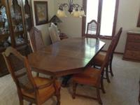 Selling a matching dining room table and hutch. The