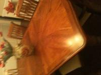 Dining Room Table and Six Chairs Perfect condition Call
