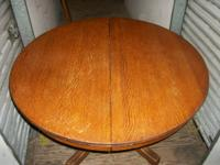 "Solid wood  "" HASTINGS "" Table.    44"" round. I have"