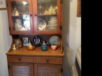 I have an old dining room table/china cabinet from