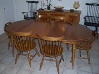 Dining Room table with 6 chairs (4 regular and 2