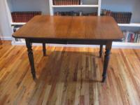 french provincial styling table has few scratches on
