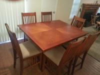 Bought this New England Made Dining room table and six