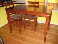 Tall Dining Room Table with 4 chairs. One chair needs