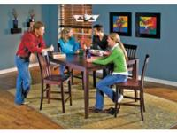 This gathering table is made for a crowd. It features