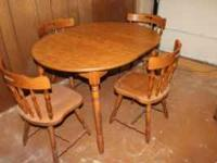 This is a compact dining set. Perfect for small