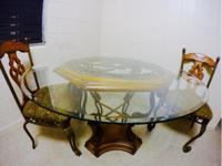Dining table with 2chairsMade of solid woodRemovable
