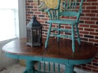 Beautiful vintage heirloom dining set. Chalk painted