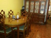 Dining Set / China Hutch Matching set DINING TABLE with