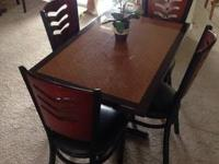 DINING SET, 4-TOP $235 NEGOTIABLE. USED. LAKELAND AREA.