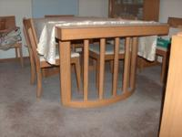Purchased new in early 50's Blonde Mahogany Dining Set