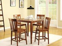 Mainstays 5-Piece Counter Height Dining Set- Warm