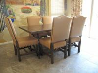 Southwest theme dining set consisting of table and 6