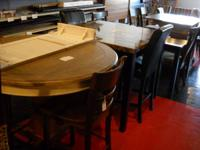 We have a selection of table overstocks, returns, and