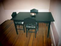 I bought this BJURSTA dining table at Ikea. Originally