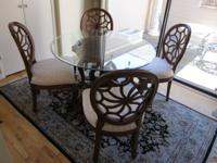Beautiful hand-carved cherrywood dining table with