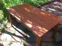 34x60 Oak wood table for sale. Was used as dining