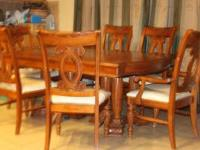 Dining Table -6 chairs -middle leaf included -oak