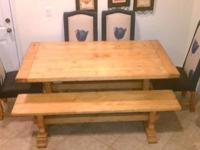 bench with table and chairs Beautiful Solid wood set