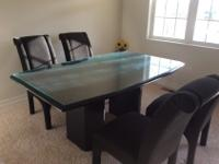 Large Dining table with 4 chairs. The basic table