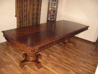 83 x 44in Dining Table. Its come with a 24in leaf and