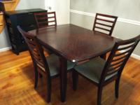 Dining space table and 4 chair set for sale! I bought