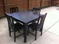 Two dining room tables with matching chairs. $75 for