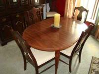Obo Solid Cherry Wood Drop Leaf Dining Table Extends 10 9