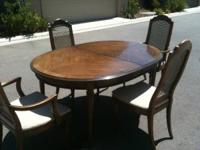 Charmant Dining Table (Drexel Heritage Vintage Walnut)   $650.