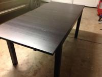 Ikea Bjursta Dining Table in Black/Brown with Gilbert