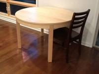 Like new dining, work, or other... table with leaf that