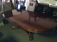 For Sale a nice oval dining room table.  Measurements