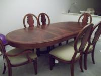 High end Liz Claiborne Solid Wood Dining Table Set in