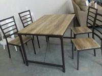new vintage style dining table set with four chairs.