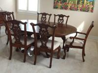 Perfect condition dining table and 6 chairs from