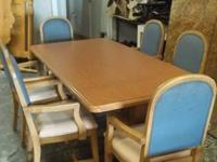 DINING TABLE and 6 CHAIRS. merely taken out from