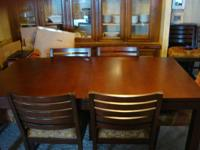Ethan Allen custom design furniture, table and six