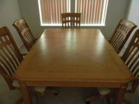 "Solid Wood Dining Table 30"" tall, 44"" wide, 60"" length"