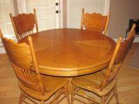 "� Table: 48"" Round x 30""H � 6 - Side chairs: 41""H �"
