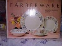 Farberware 45 Piece Dinner Set: 8 each Dinner Plates; 8