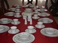 This dinner set is complete and in very good condition