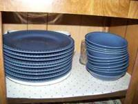 JCP Home Dinnerware 10 place setting with extras and 9