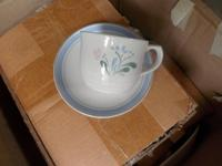8 piece dinnerware set 25.00 Firm. Please call or