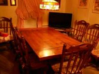 I HAVE FOR SALE A REAL NICE AND SOLID DINNING ROOM SET
