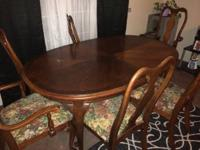 Dinning table $60 With 6 chairs