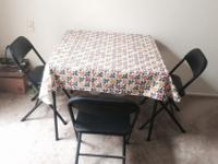 Near New Dining Table With 3 Chairs - $57 (Daly