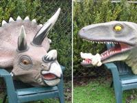 Meet Tracy Triceratops and Terry Tyrannosaurus who both
