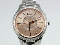 Dior VIII Montaigne Diamond Bezel Pink Dial 32mm Watch