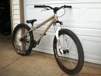 Rock shox argyle fork, saint 3 piece cranks, half link