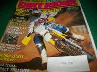 Dirt Rider,January 1990,Yamaha YZ125A test,Honda